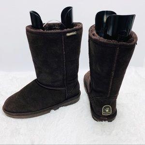 Bearpaw Emma Tall Genuine Sheepskin Boots Sz 11
